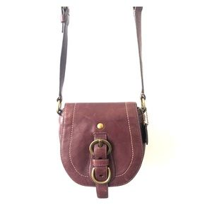 Coach Mini Saddle Bag - Purple